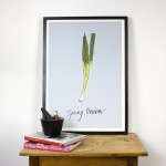 Blue Spring Onion Giclee Print