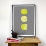 Grey Lime Giclee Print